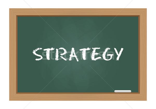 Estratégia texto quadro-negro negócio escrita Foto stock © simo988