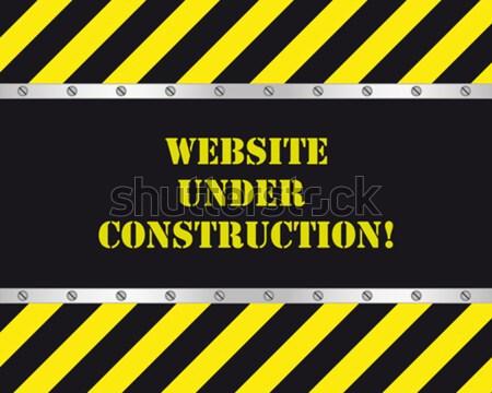 Weboldal építkezés oldal épület festék űr Stock fotó © simo988