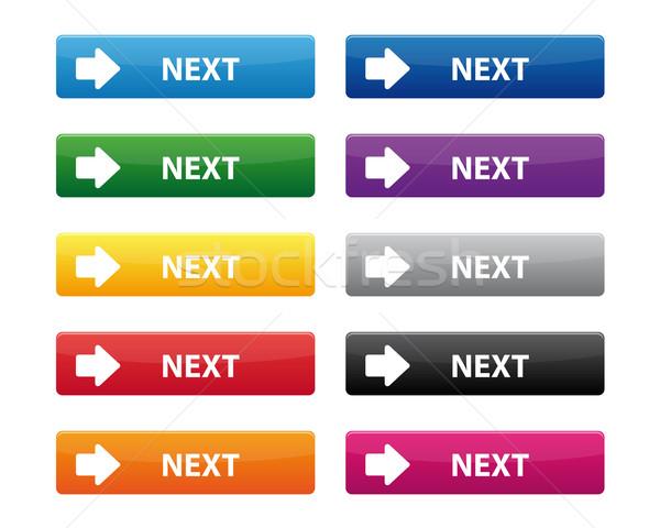 Próximo botões coleção cores vidro Foto stock © simo988