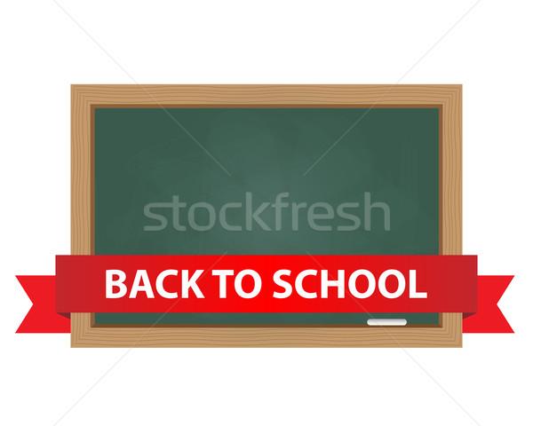 Schoolbord terug naar school tekst banner hout ontwerp Stockfoto © simo988