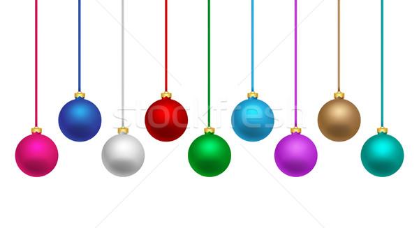 Kleurrijk christmas opknoping kleuren Stockfoto © simo988