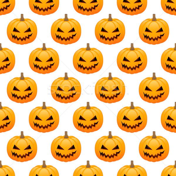 Halloween Kürbisse weiß Party Stock foto © simo988