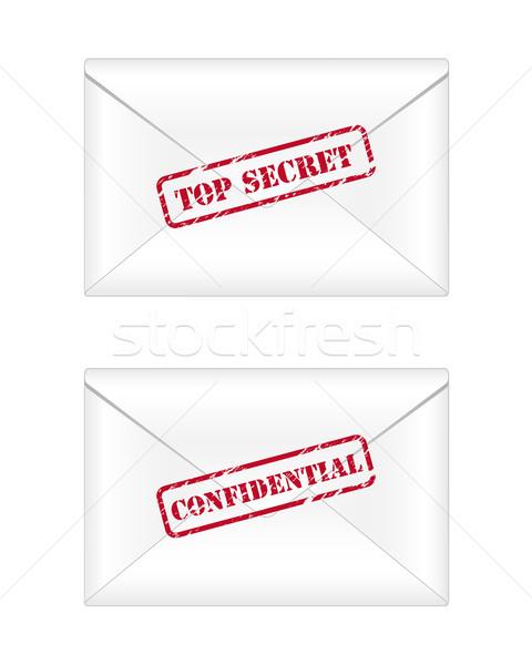 Topo segredo confidencial escritório papel fundo Foto stock © simo988
