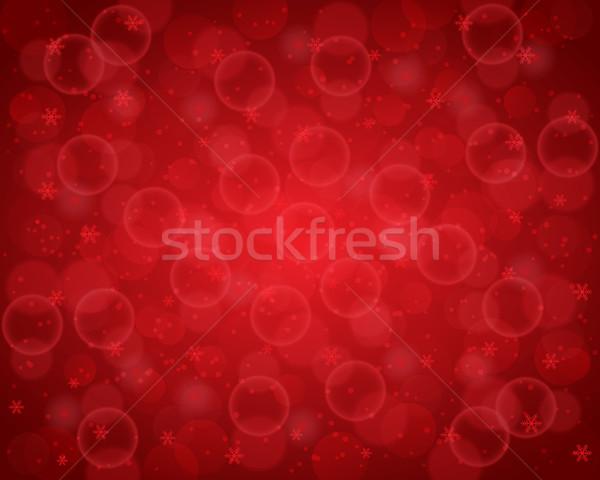 Absztrakt karácsony dekoratív piros bokeh fények Stock fotó © simo988