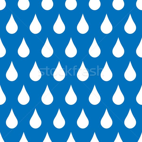 Cseppek végtelenített végtelen minta kék természet terv Stock fotó © simo988