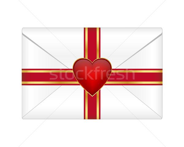Valentijn envelop hart boeg brief leven Stockfoto © simo988