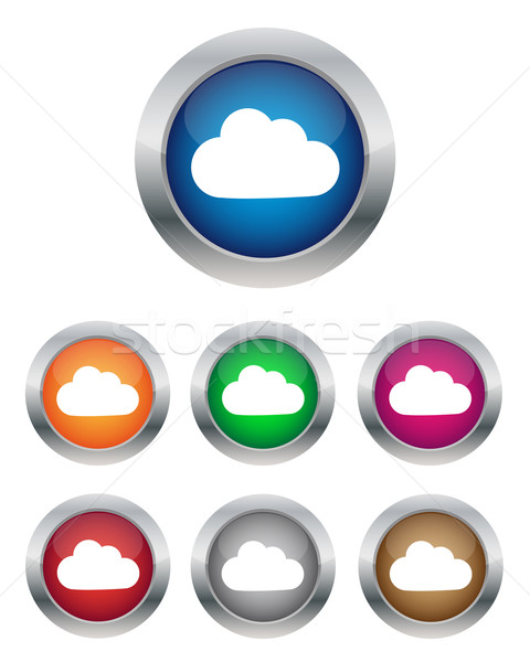 Wolke Tasten Sammlung unterschiedlich Farben Design Stock foto © simo988