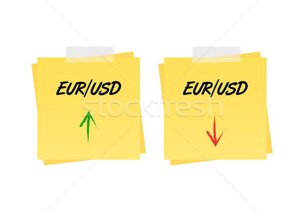 Eur/usd up and down trend Stock photo © simo988