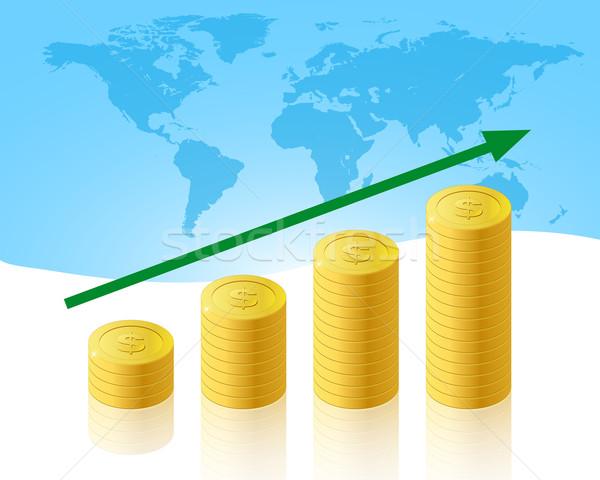 Business illustratie geld abstract achtergrond Stockfoto © simo988