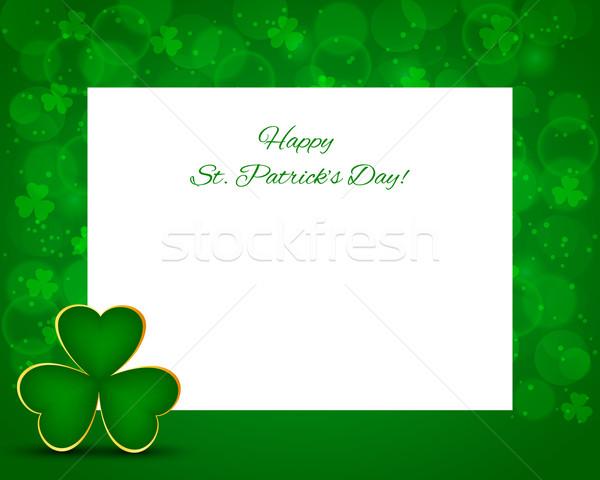 聖パトリックの日 カード クローバー 抽象的な 葉 背景 ストックフォト © simo988
