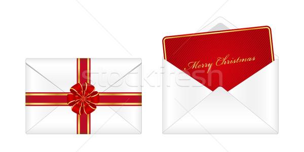 Navidad dotación tarjeta de felicitación feliz noticias signo Foto stock © simo988