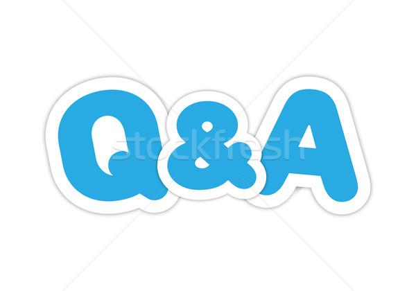 Kérdések válaszok terv kék üzlet felirat Stock fotó © simo988