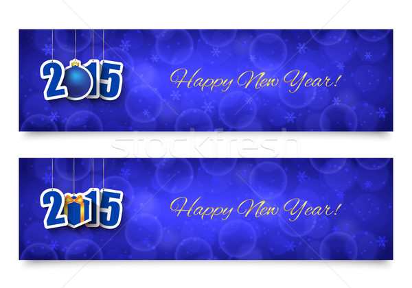 2015 New year banners Stock photo © simo988