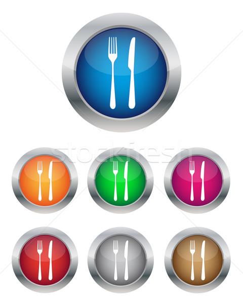 Restaurant knoppen collectie kleuren business Stockfoto © simo988