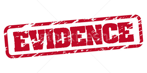 Evidence rubber stamp Stock photo © simo988