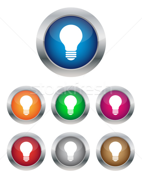 Lamp knoppen collectie kleuren business Stockfoto © simo988