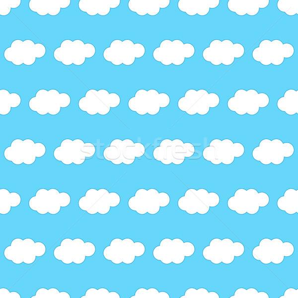 Nuvem sem costura azul primavera abstrato projeto Foto stock © simo988