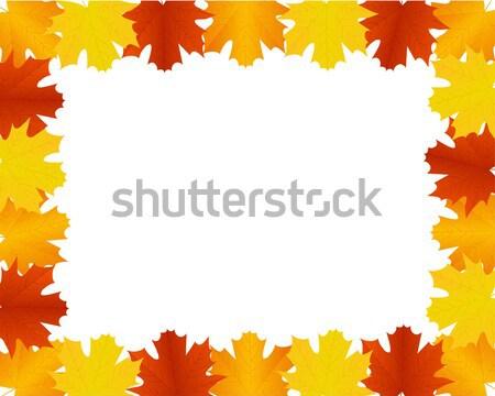 Herbstlaub Grenze Rahmen glücklich abstrakten Natur Stock foto © simo988