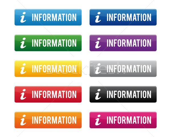 Informazioni pulsanti colori business computer Foto d'archivio © simo988