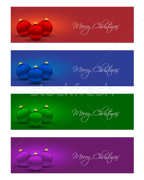 Natal banners cores feliz fundo Foto stock © simo988