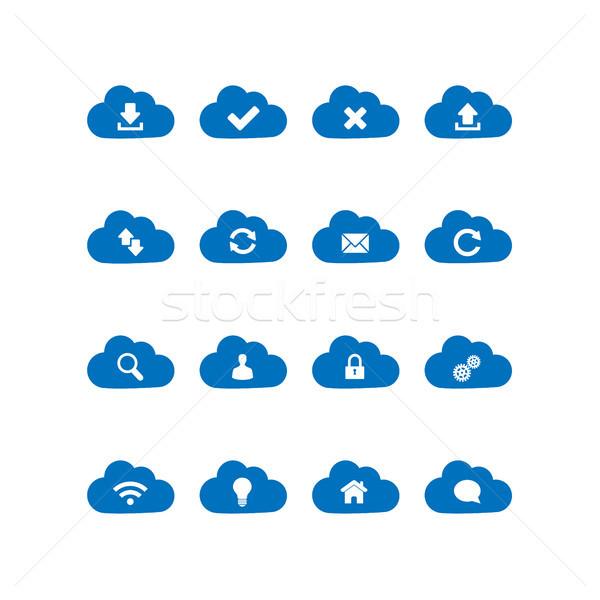 Cloud computing icons Stock photo © simo988