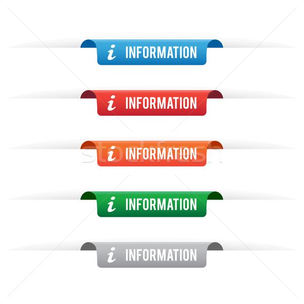 Informazioni carta tag etichette colori Foto d'archivio © simo988