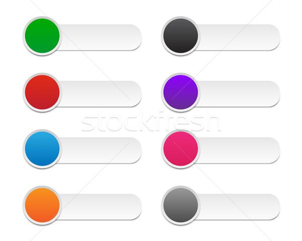 Kleurrijk ingesteld kleuren Stockfoto © simo988