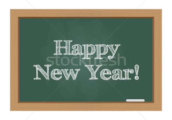 Gelukkig nieuwjaar bericht schoolbord textuur abstract ontwerp Stockfoto © simo988
