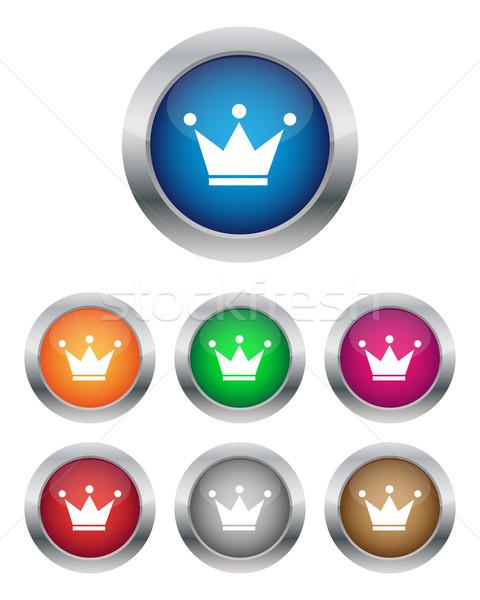 Krone Tasten unterschiedlich Farben Design Technologie Stock foto © simo988