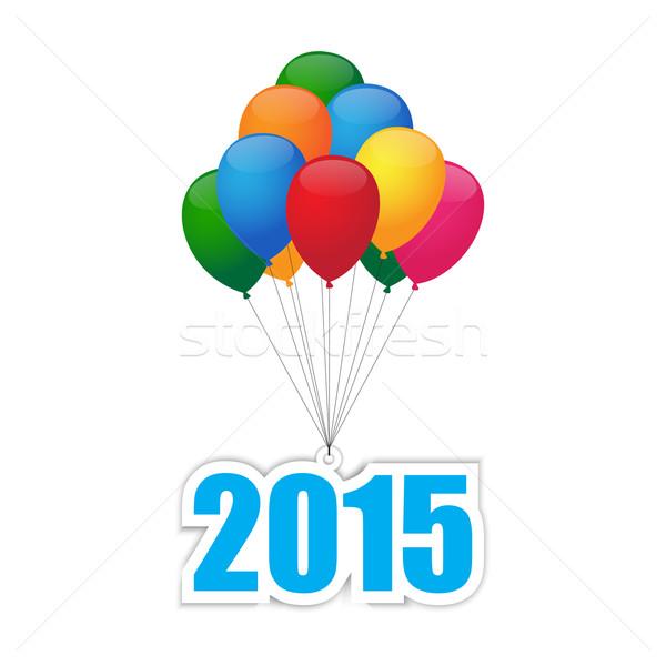 風船 2015 カラフル グループ 抽象的な 赤 ストックフォト © simo988