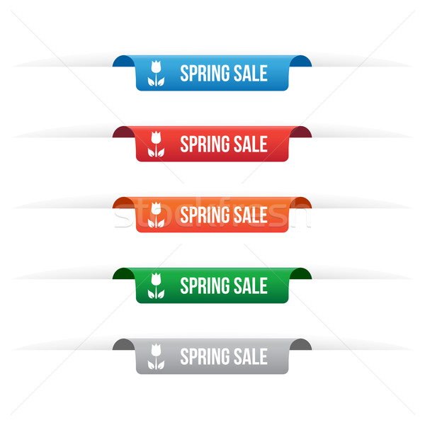 Spring sale paper tag labels Stock photo © simo988
