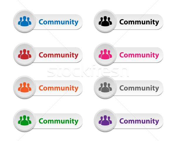 Gemeinschaft Tasten Sammlung unterschiedlich Farben Business Stock foto © simo988