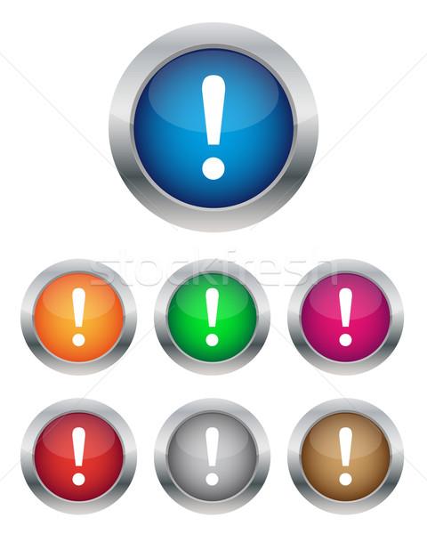 Ostrzeżenie przyciski różny kolory Internetu projektu Zdjęcia stock © simo988
