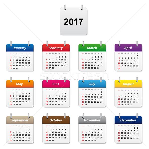 Calendar 2017 Stock photo © simo988