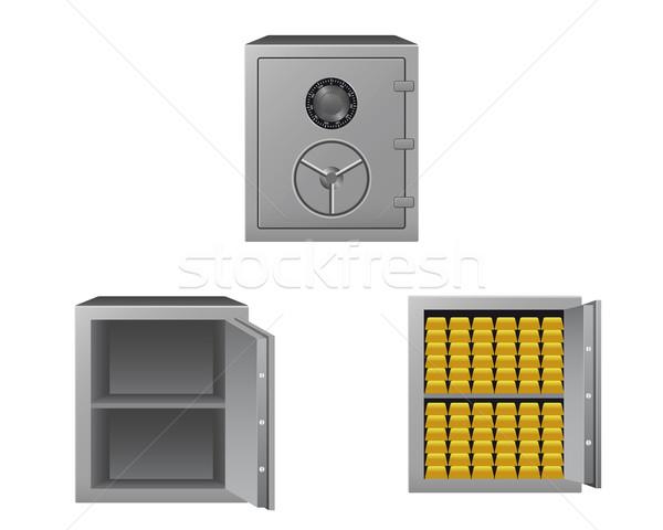 Ouro barras negócio dinheiro porta Foto stock © simo988