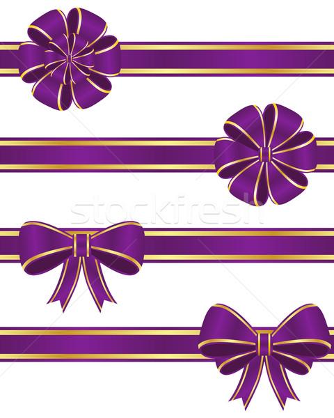 Purple ribbons Stock photo © simo988