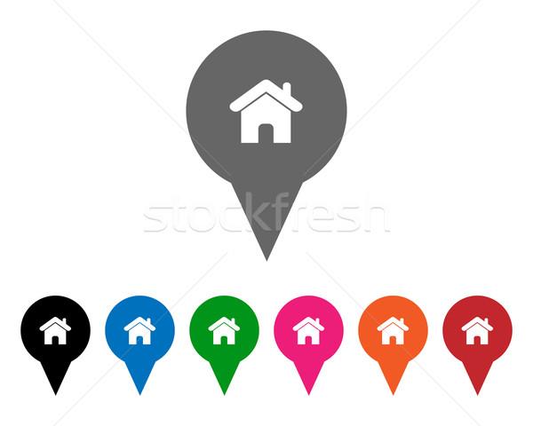 Ev renkler ev Internet arka plan Stok fotoğraf © simo988