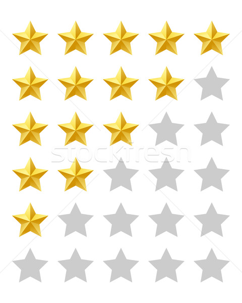 Stock photo: Five stars rating