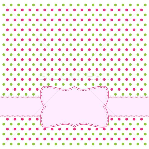 Polka dot design frame Stock photo © simo988