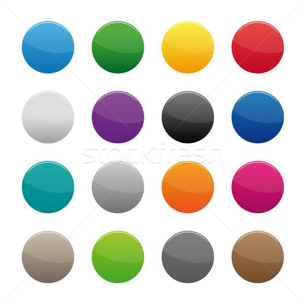 ボタン コレクション 色 ビジネス コンピュータ ストックフォト © simo988