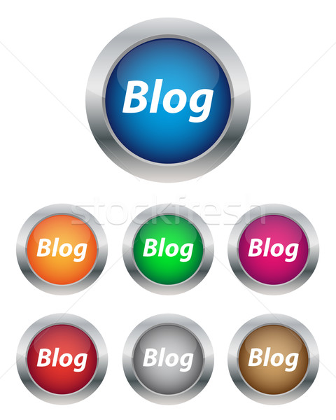 Blog knoppen collectie kleuren internet Stockfoto © simo988