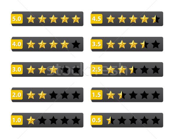 Csillagok gombok izolált fehér internet csillag Stock fotó © simo988