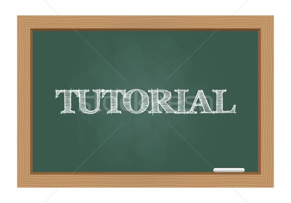 Tutorial szöveg tábla rajzolt üzlet felirat Stock fotó © simo988