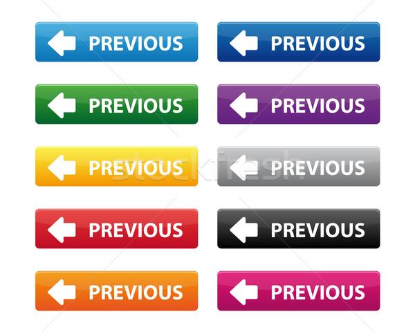 Korábbi gombok gyűjtemény különböző színek internet Stock fotó © simo988
