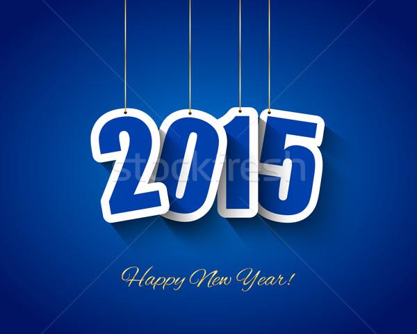 2015 Neujahr Tags hängen Papier glücklich Stock foto © simo988
