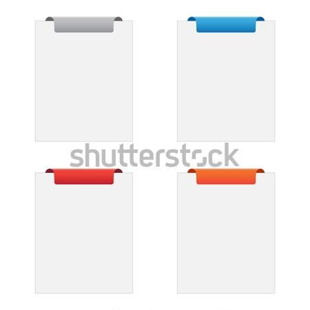 Etiketten unterschiedlich Farben Business Computer Papier Stock foto © simo988