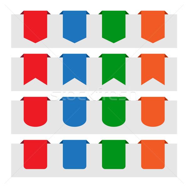 Carta tag etichette colori design Foto d'archivio © simo988
