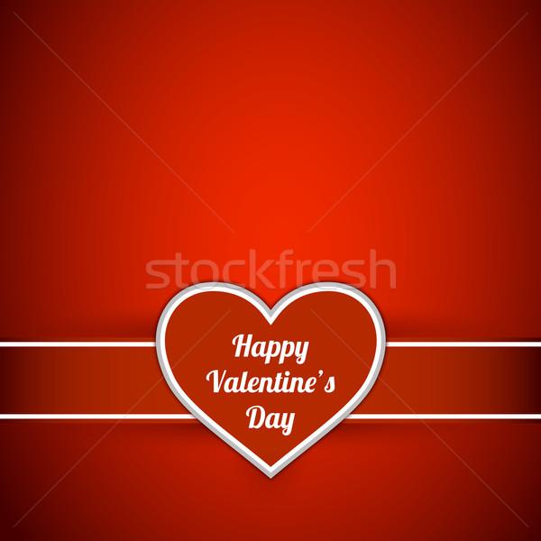 Dia dos namorados cartão coração etiqueta feliz projeto Foto stock © simo988