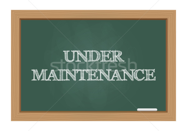 Under maintenance message on chalkboard Stock photo © simo988