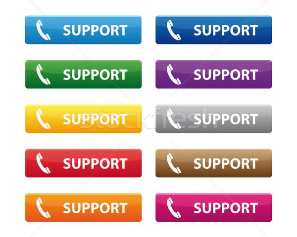 Apoiar botões coleção cores negócio Foto stock © simo988